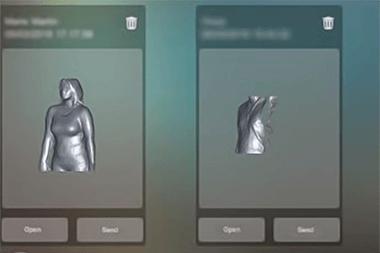 イメージ画像: 撮影データ一覧をOrten 3D スキャナーのアプリで管理している例