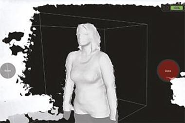 イメージ画像: Orten 3D スキャナーのアプリを利用している例