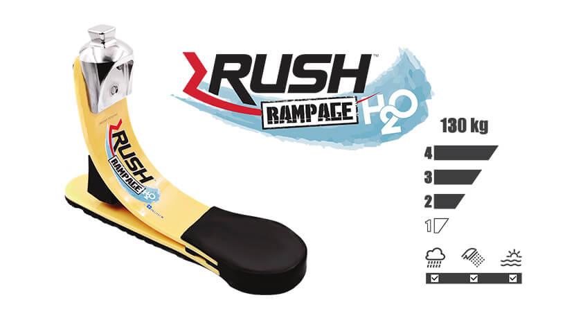 <b>ガラス繊維強化樹脂製足部</b><br>RUSH RAMPAGE H2O