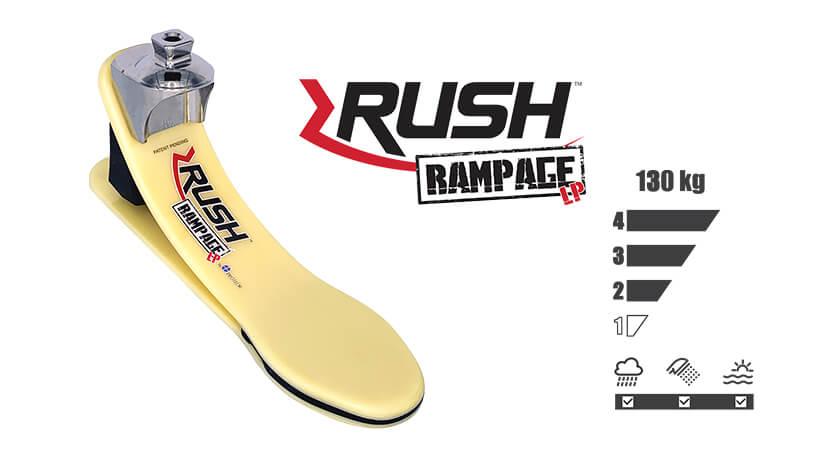 <b>ガラス繊維強化樹脂製足部</b><br>RUSH RAMPAGE LP