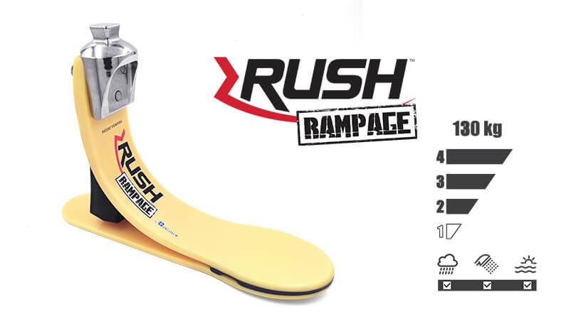 <b>ガラス繊維強化樹脂製足部</b><br>RUSH RAMPAGE