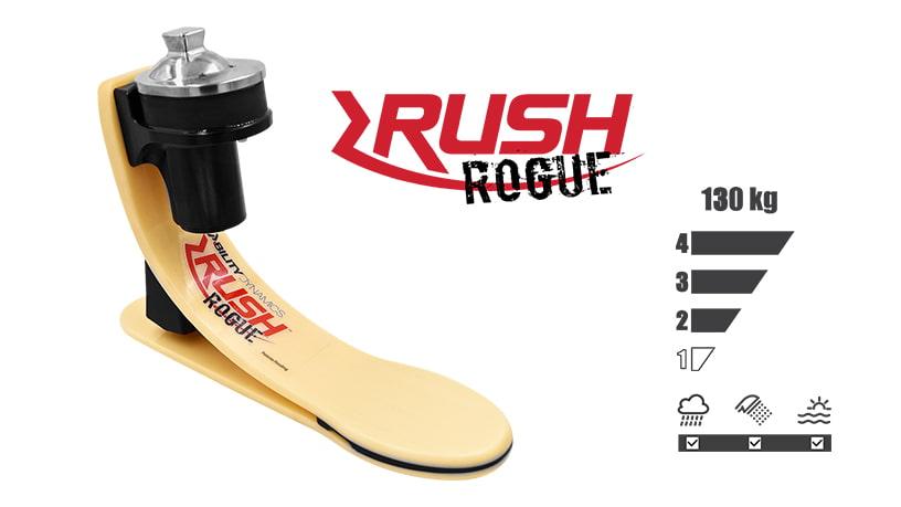 <b>ガラス繊維強化樹脂製足部</b><br>RUSH ROGUE